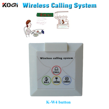 bell buzzer button waiter K-W4 CALL BILL CANCEL for wireless pager system buzzer install on the wall-mounted