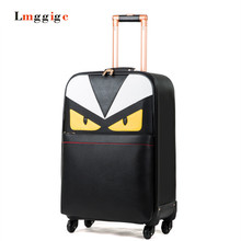 "16""20""24 inch Monster Luggage Carry-on ,PU leather Suitcase,Universal wheels Trolley Carrier,Lightweight drag box with password"