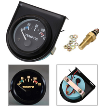 1 set 52mm Black Car Auto Digital LED Water Temp Temperature Gauge Kit 40-120 Degree(China)