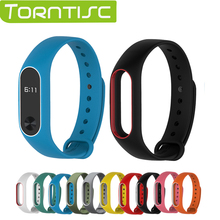 Torntisc In stock 1 pcs Replacement Strap For Xiaomi Mi band 2 band2 Smart band Bracelet Double Color Wrist Strap Multi-colors(China)
