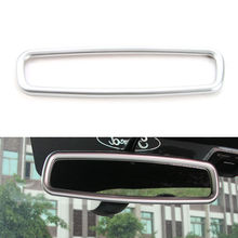 BBQ@FUKA Silver/Red/Blue Car-styling Interior Rearview Mirror Cover Ring Trim Car accessories Fit For Ford Mustang 2015-2017 ABS(China)