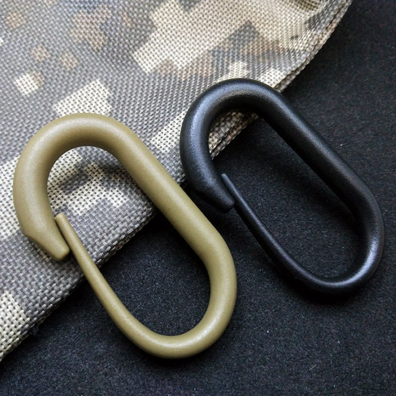 2pcs Quality Black Snap Hook Webbing Molle Belt Buckle Zinc Alloy Carabiner Clip