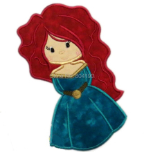 "7"" Brave Merida Princess Girls Film TV MOVIE Classic Lovely Cute Cartoon Embroideried Felt Iron On Patch Logo Badge(China)"
