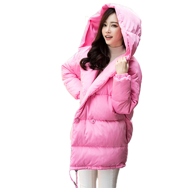 winter new women loose coat fashion cute parkas hooded jacket overcoat long section casual down cotton coat large size coatОдежда и ак�е��уары<br><br><br>Aliexpress