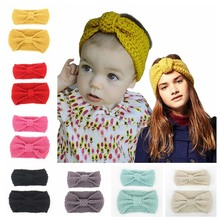 2 Pieces/Set Mom And Me Knitted Headband For Kids Girl Woolen Turban Knotted Hairband Warm Ear Hair Accessories
