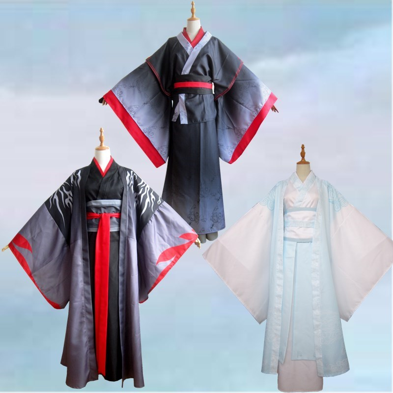 Grandmaster of Demonic Cultivation Lan Wangji Wei Wuxian Cosplay Costumes Suits