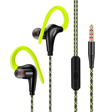 2017 Ear Hook Sport Earphone Super Bass Sweatproof Running Headset Sport Headphones With Microphone For iphone 5 5s 6 6s Samsung