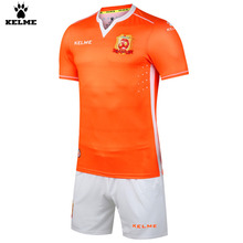 KELME New Soccer Jerseys Training Suits Men Football Tracksuit KC012 Fluorescent Orange White
