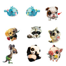 2 PCS Painting Animals Badges for Clothes Acrylic Badges Free Shipping Kawaii Icons on Backpack Pin Brooch Badge acrylic