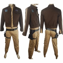 Rogue One: A Star Wars Story Captain Cassian Andor costume deluxe unique halloween make-up costume sci-fi outfit x'mas gift men(China)