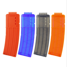 Newest 15 Reload Clip Magazines Round Darts Replacement Plastic Magazines Toy Gun Soft Bullet Clip For Nerf N-Strike Elite(China)