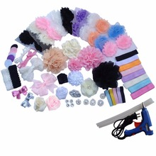 Arncide Fashion Hair Bows Kit DIY Hair Bow Maker New Shower Games Headband Station Birthday Crafting Kit Party Supplies xth315-2(China)