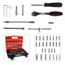 53pcs Automobile Motorcycle Car Repair Tool Box Precision Fast of Ratchet Torque Wrench Combo Tools for Car Auto Repairing(China)