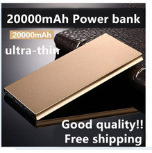 Lluxury Original 20000mAh Power Bank Ultra-thin External Battery Pack Led light 2USB For Universal Smartphone Tablet free ship