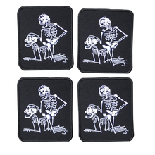 kull Punk embroidery patch DIY patch custom embroidery patches scary dead punk style patches stickers for jackets