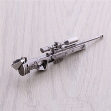 CS GO AMW AK47 Weapon Metal Necklaces Men Gun Leather Chain Neclace CSGO Collier Homme Male Neckless Best Friends M9 Jewelry