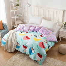 New cartoon design comfortable quilt cover/high quality deluxe quilt/comfortable 1pcs quilt cover(China)
