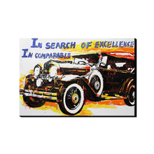 AONBAT ART 100% Hand Painted Oil Painting of Vintage Car Poster on Canvas Wall Art Home Office Decoration Unframed DSJ13-0024-1(China)