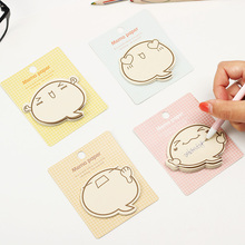 3PCS Decoration Stationary Kawaii  Big Face N Times Notepad Note Book Memo Pad Sticky Mark Random