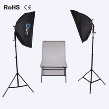 2 LED lamp 50*70 Soft box +2*2m photography light Stand +60cm*100cm photography station photographic equipment Photo Studio Set