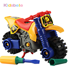 Model Building Kits Toy Assembly Motorcycle DIY Toys For Children Monterssori Blocks Kids Educational Plastic Gift Boy Toys