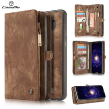 For Samsung Galaxy S8 Case Cover Flip Wallet Luxury Leather Shockproof Protective Brown Phone Cases for Samsung Galaxy S8 Plus