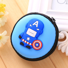 Containing Package Silicone Rubber Coin Bag Minion Bag Captain America Gift Promotional Headset Charger Pouch Holder Coin Purse(China)