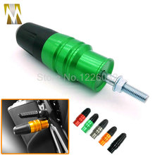 New listing Green Color Motorcycle CNC Crash Pads Exhaust Sliders crash protector protect For Kawasaki Ninja 250 Ninja 300 Z800