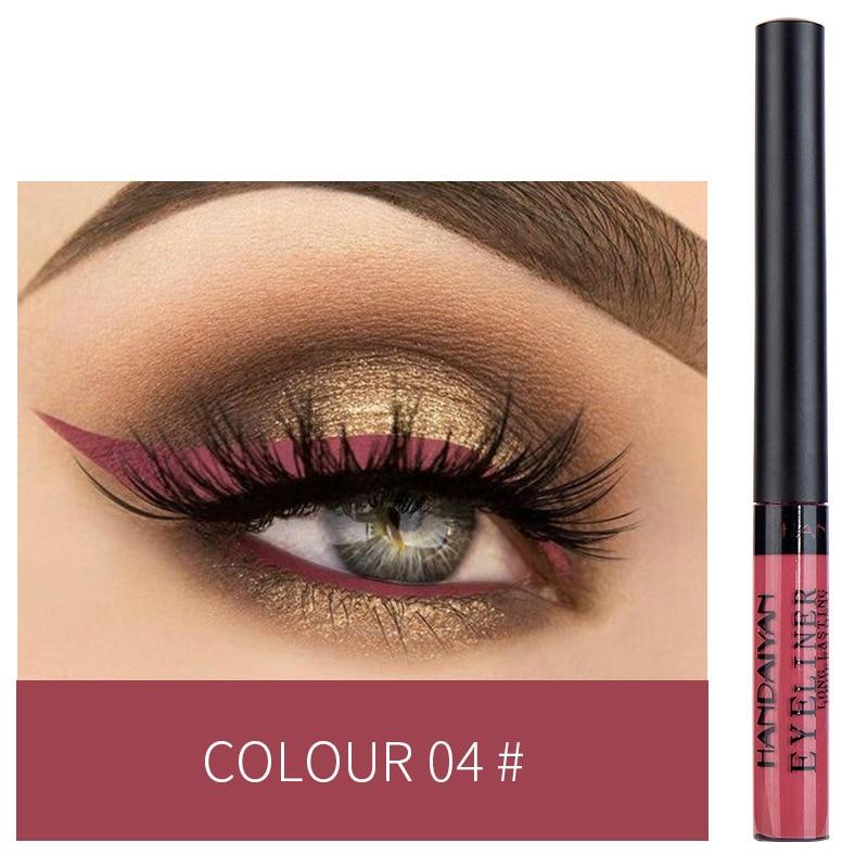 12 Color Eyeliner Liquid Waterproof Easy To Wear Make Up Matte Eye Liner Blue Red Green White Gold Brown Eyliner 6