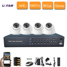 LOFAM CCTV 4CH AHD 1080N P2P HDMI H. 264 Mini DVR Video Surveillance Security System HD 1000TVL IR Filter Camera Kit 4channel