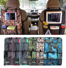 CAR REAR SEAT BACK ORGANIZER PAD PHONE HOLDER STORAGE BAG HANGER NET TRUCK MESH TRAVEL POCKET Accessories(China)