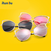 Fashion Design Mens Womens Cat Ear Hollow Frame Glasses UV 400 Protection Sunglasses for Shopping