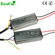 ECO CAT LED Driver 10W 20W 30W 50W Adapter Transformer AC100V-265V to DC 20-38V Switch Power Supply IP67 For Floodlight