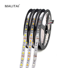 5M (Meters) 12V SMD 5050 RGB Flexible LED Strip Light 60LEDs/M Brighter Than 3528 LED String Tape For Indoor Decoration lighting(China)