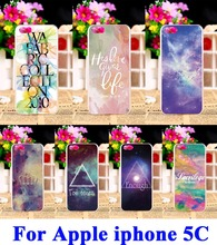 Hard Plastic Cell Phone Cases  For iPhone 5C Cover Star Sky Painted Pattern Wholesale and Retail DIY Back Protection Shell Cover
