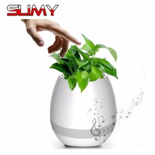 Slimy Smart Wireless Bluetooth Speaker Gift Touch Plant Piano Singing Flower Pot Home Office Decoration Vase Sound box(China)