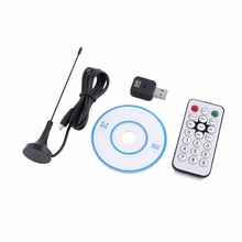Mini USB DVB-T Digital Terrestrial TV Receiver Tuner Stick Dongle OSD MPEG-2 MPEG-4 with Antenna Remote Control CD For Laptop PC(China)