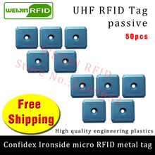 UHF RFID anti-metal tag confidex ironside micro 915mzh 868m M4QT 50pcs free shipping durable ABS small smart passive RFID tags