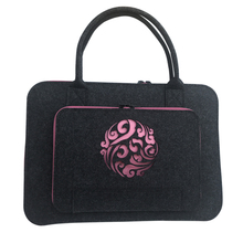 Wool Felt Pink Coulds Laptop Sleeve Bag 11 12 13 14 15.6 17 Inch Laptop Case For Women Briefcase Handlebag For Macbook Air 13(China)