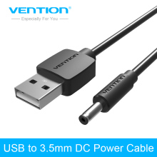 Vention USB DC 5V Power Cable USB 2.0 To Barrel Connector Charger Cable For Mp4 Mp5 USB HUB USB light Portable Power Black(China)