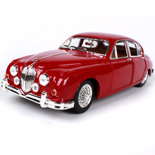 1:18 diecast Car 1959 Jaguar Mark II Red Classic Cars 1:18 Alloy Car Metal Vehicle Collectible Models toys For Gift