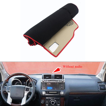 Fit For Toyota Prado 2010-2016 Car Dashboard Avoid Light Pad Instrument Platform Desk Cover Mat Silicone Non-skid Back Surface(China)