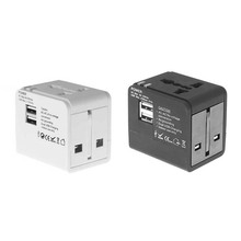 Universal Travel Adapter Power Adapter Electric Converter World USB Travel Socket Plug Power Charger Converter Adaptors(China)