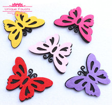 50pcs 65mm BIG Size Multi Colors Felt Fabric Butterfly Appliques Non Woven Fabric Butterfly Patches DIY Craft Supply