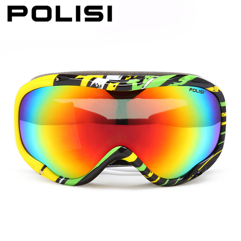POLISI Professional Men Women Skiing Eyewear Double Layer Anti-Fog Lens Snowboard Snowboarding Goggles Winter Snowmobile Glasses<br><br>Aliexpress