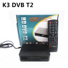 K3 DVB-T2 DVB-T Satellite Receiver HD Digital TV Tuner Receptor MPEG4 DVB T2 H.264 Terrestrial TV Receiver DVB T Set Top Box(China)