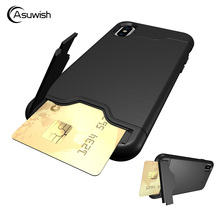 Buy Asuwish Heavy Duty Armor Case Apple iPhone 8 iPhone8 Phone Case Rugged Hybrid Silicone Hard Cover Kickstand Card Slot for $5.48 in AliExpress store