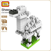 LOZ Bricks No Box Diamond Block Toys Alpaca Sheep Action Figure Model Building Animal Farm Dimensions Blocks Forge World 9280(China)