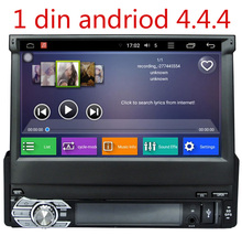 "7"" Capacitive Detachable panel Single Din Car DVD GPS One Din Car Radio 1 Din Car PC with Android 4.4.4 1080P Resolution(China)"