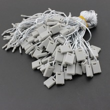 High quality grey hang tag string 100 Pieces/Lot hang tag strings cord for garment stringing price hangtag or seal tag